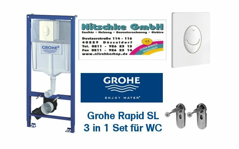 grohe rapid sl vorwandelement f r wand wc sp lkasten unterputz m skate air wei ebay. Black Bedroom Furniture Sets. Home Design Ideas
