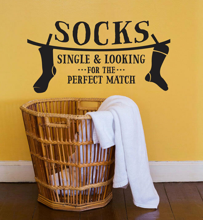 Socks Single Looking Wall Sticker Home Quotes Inspirational Love