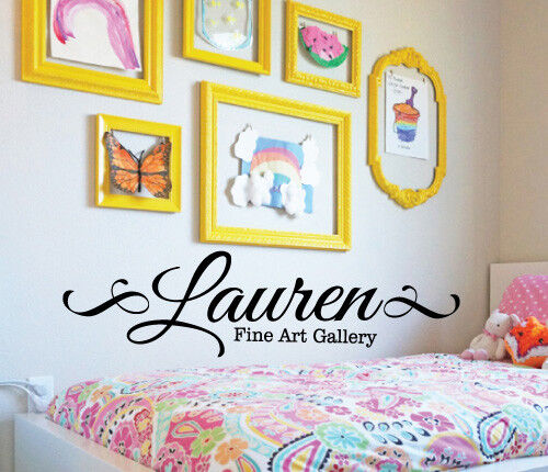 custom name fine art gallery wall sticker home quotes inspirational love ms195vc ebay. Black Bedroom Furniture Sets. Home Design Ideas