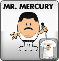 MR. MERCURY Freddie New QUEEN Rock Music T-shirt. Mens Sizes: S - XXL