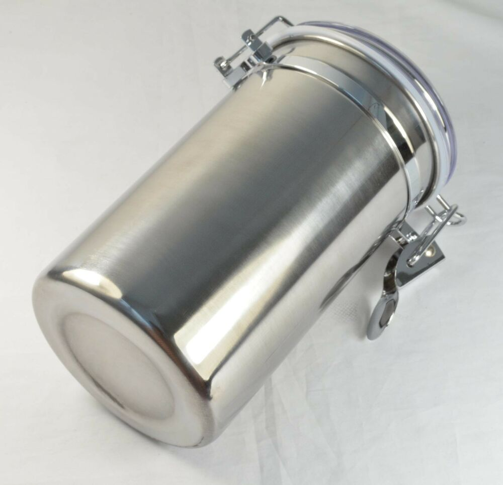 White stainless steel tobacco jar seal moisture airproof