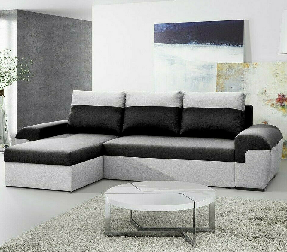 ecksofa johanna sofagarnitur eckcouch couch mit schlaffunktion bettkasten ebay. Black Bedroom Furniture Sets. Home Design Ideas