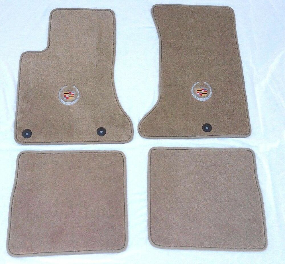 Cadillac Srx Tan Carpet Floor Mats 4 Pc Cadillac Crest