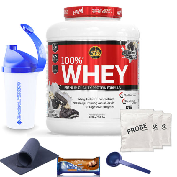 21,23€/kg All Stars 100%* Whey Protein Eiweiß Made in Germany 2270 Dose + BONUS