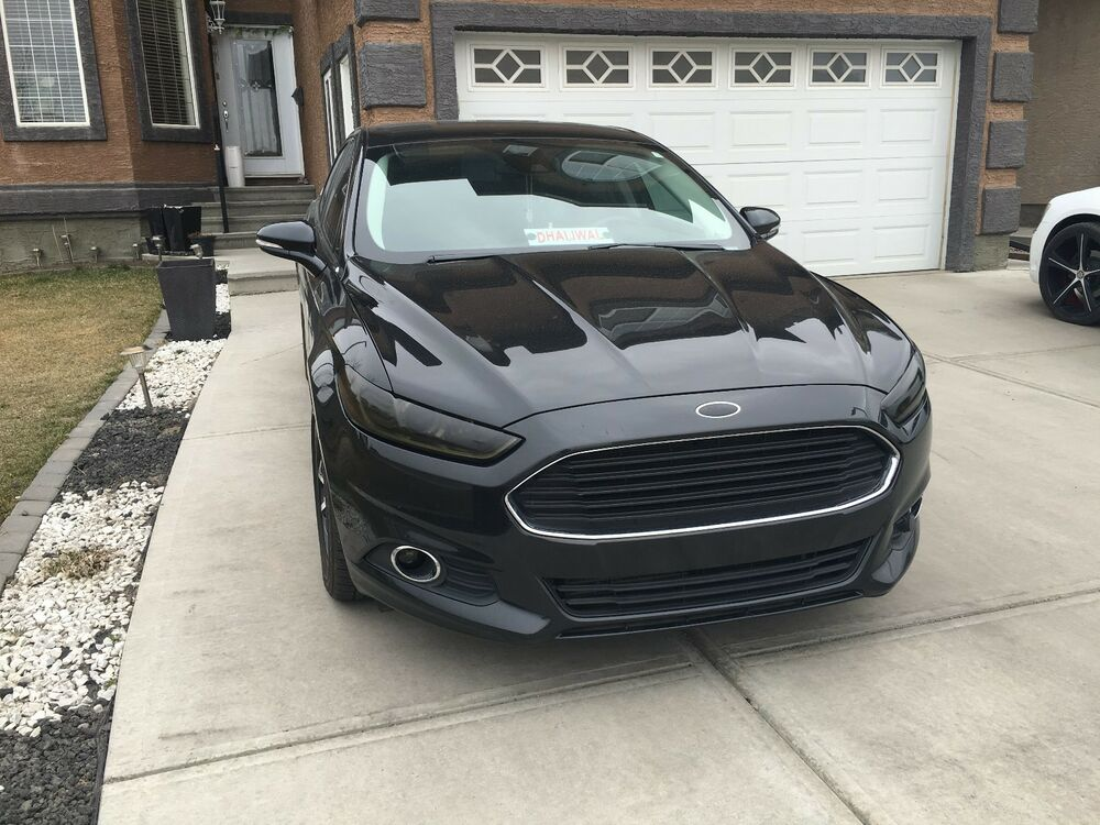 Custom 2015 Ford Fusion >> 13-16 Ford Fusion headlight + fog light tint cover vinyl overlays smoked | eBay
