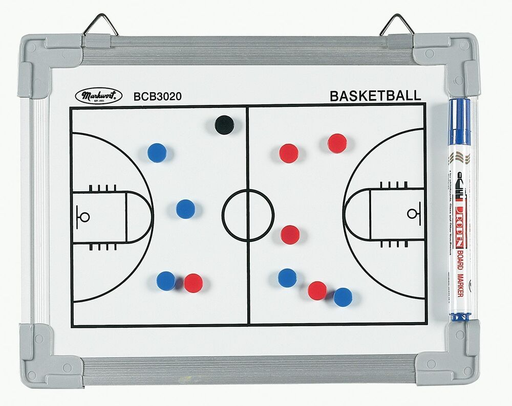 Magnetic Basketball Court Coach Coaching Dry Erase
