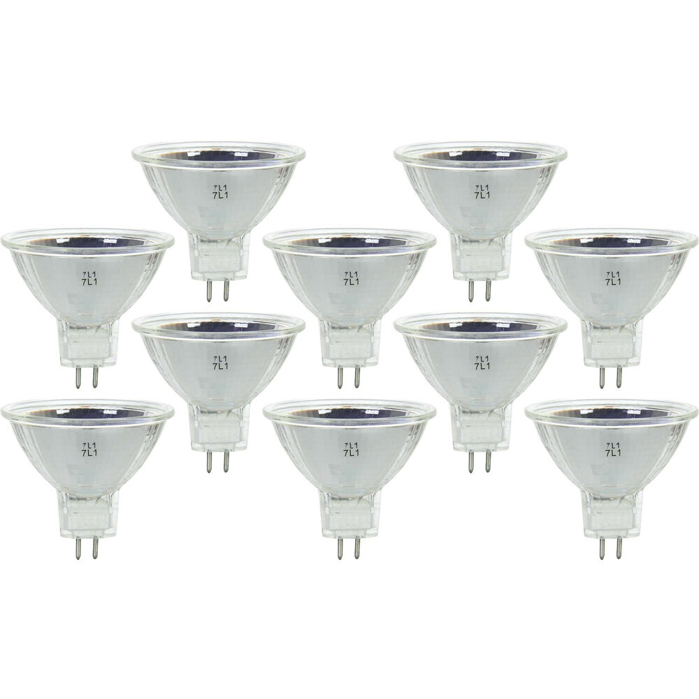 Q75mr16em Mr16 Halogen Light Bulb: [10 Pack] New 20 Watt MR16 Halogen Light Bulbs 12V 20W ESX