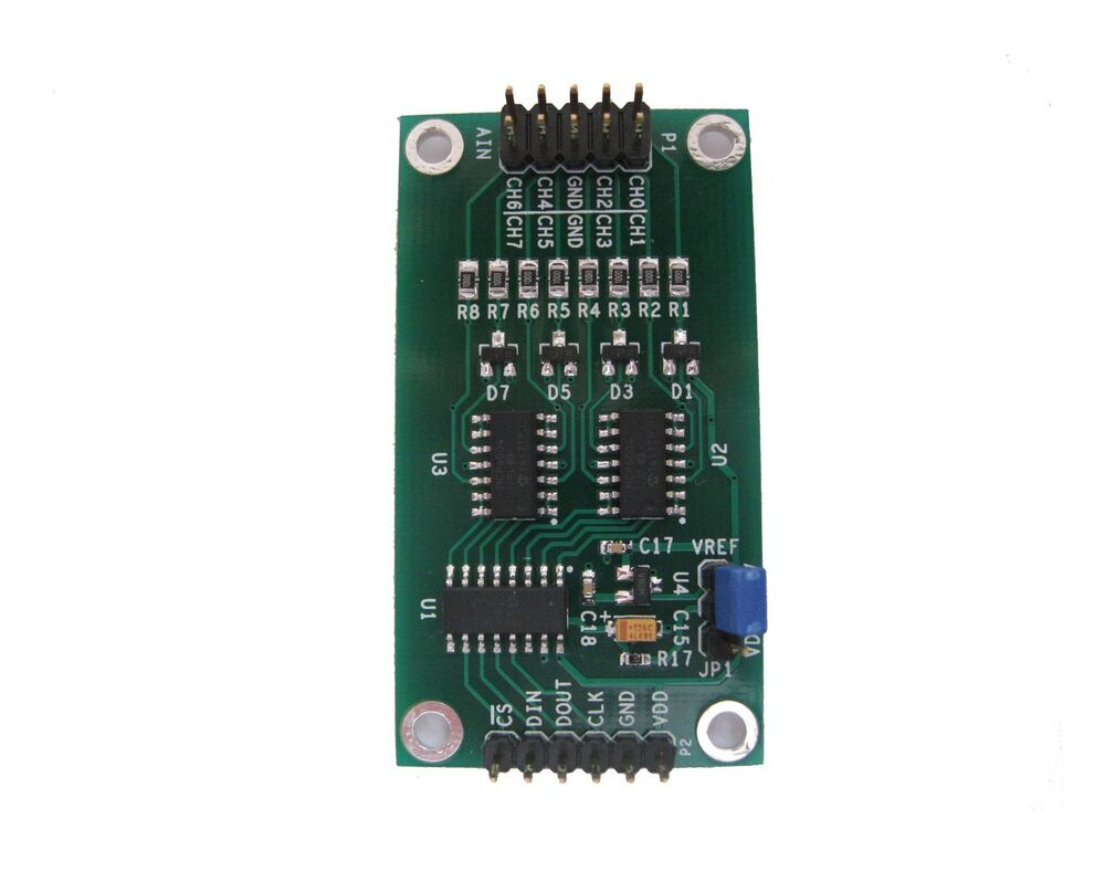 Mcp bit channel adc module for arduino raspberry