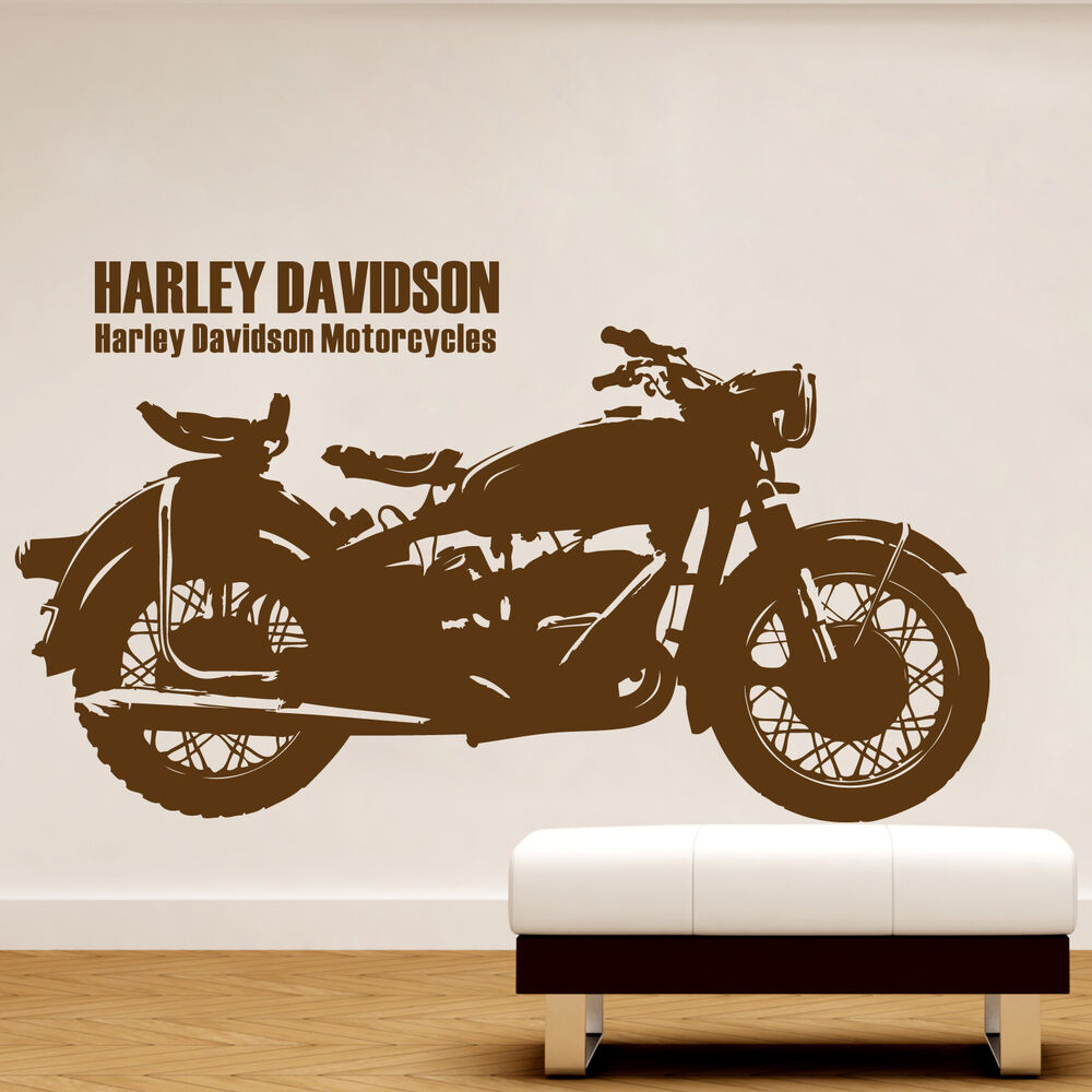 Cool Harley Davidson Motorcycle Family Art Vinyl Decal Sticker - Stickers for motorcycles harley davidsons