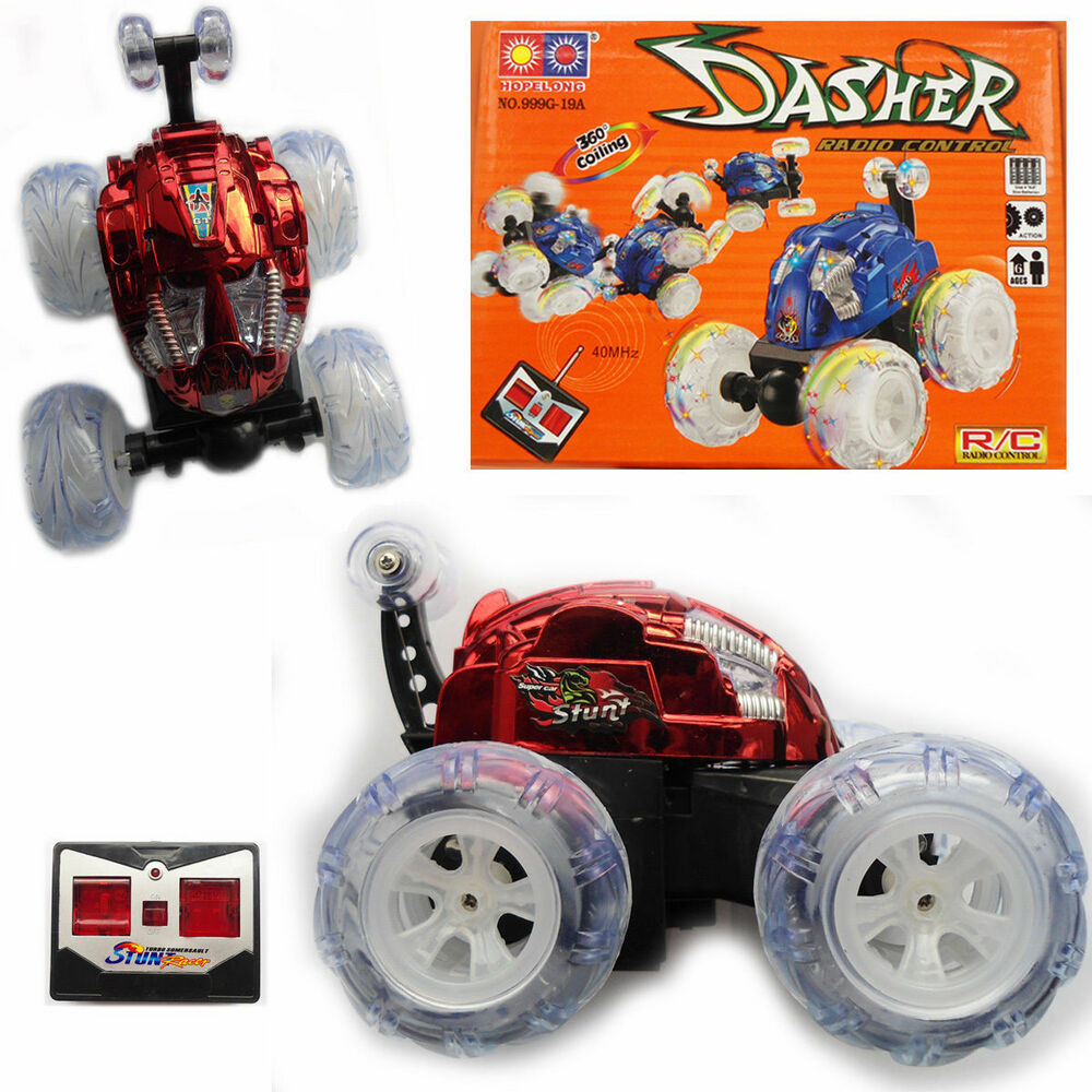 Electric Toys For Boys : Rc dasher stunt kids toy car mhz electric big twister