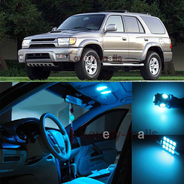 Deluxe Ice Blue Light Interior Led Package Kit For Toyota