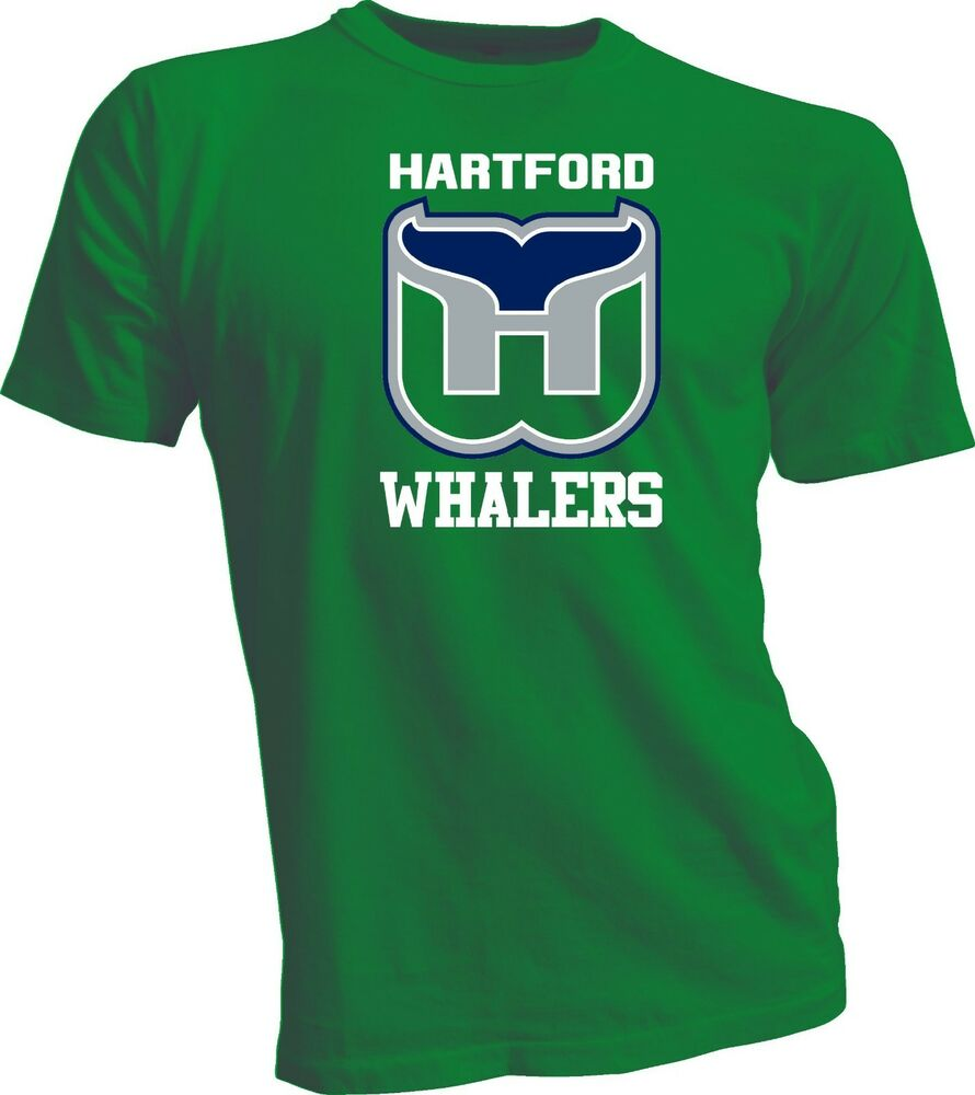 Hartford whalers defunct nhl old time hockey green t shirt for Retro nhl t shirts