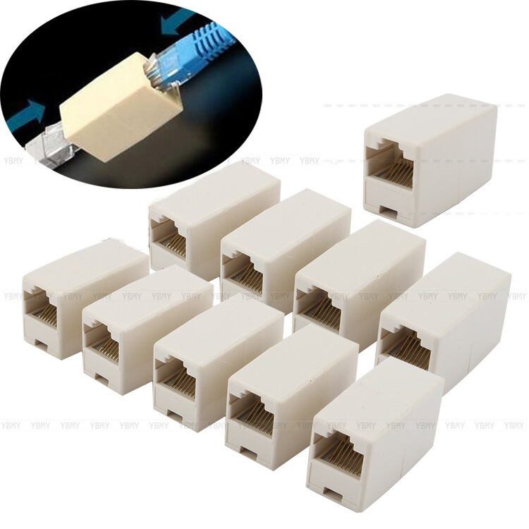 New pcs ethernet lan cable joiner coupler connector