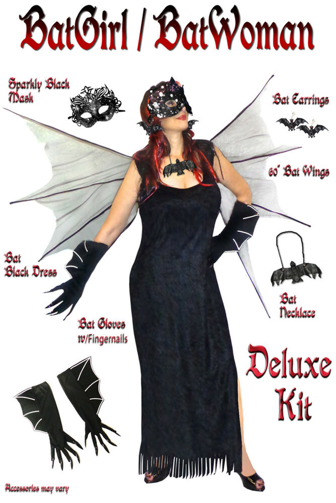 Sexy Plus Size Bat Woman / Bat Girl Halloween Costume 1x ...