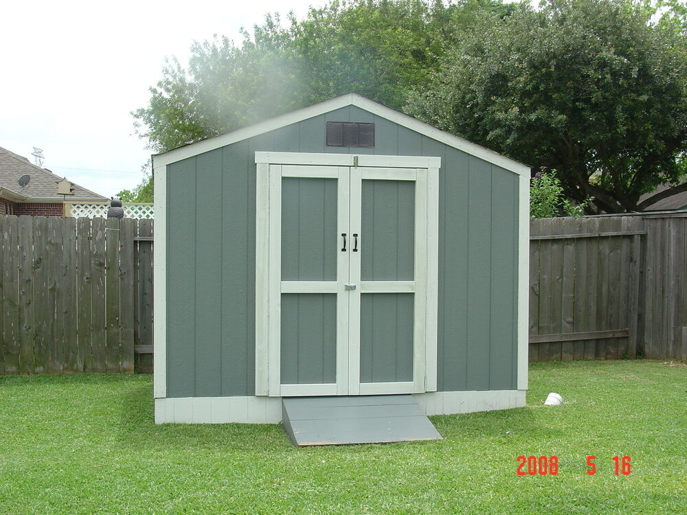 Storage building new 10x8 gable shed barn ebay for Building a storage shed