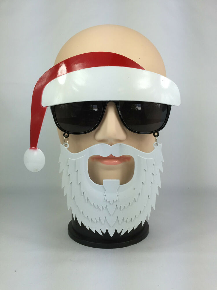 Funny christmas santa claus glasses with beard hat