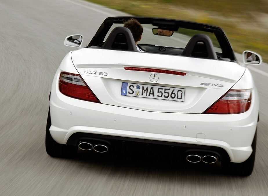 genuine mercedes benz r172 slk amg styled rear bumper. Black Bedroom Furniture Sets. Home Design Ideas