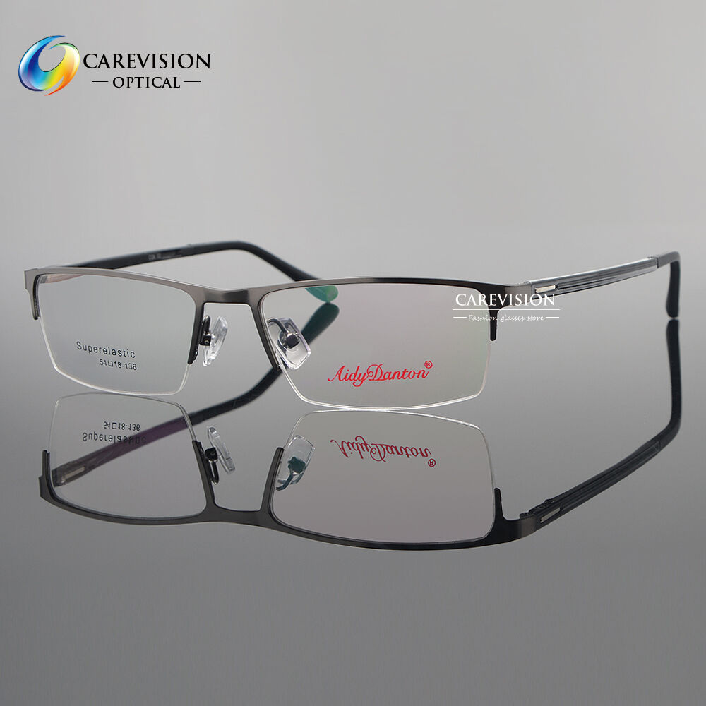 half rimless eyeglass frame metal spectacles for