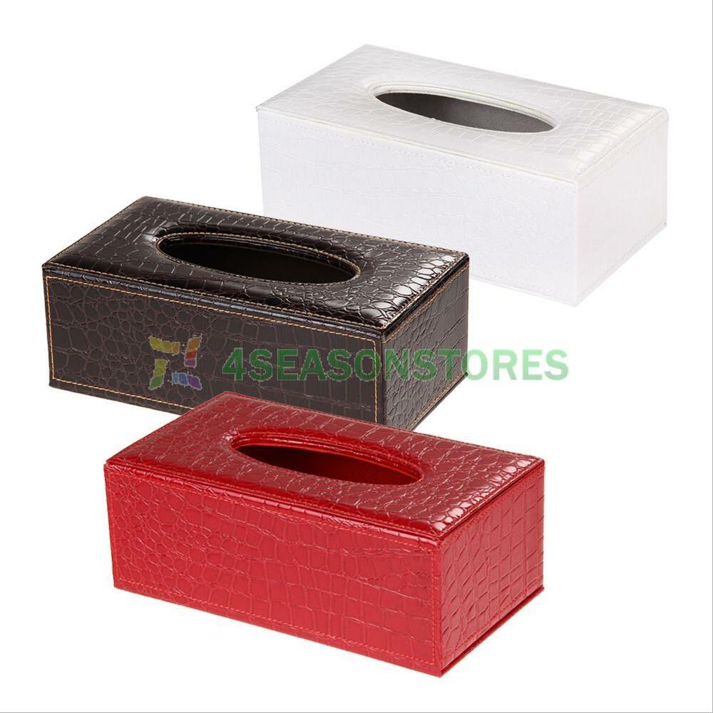 Durable Pu Leather Tissue Box Cover Napkin Paper Holder
