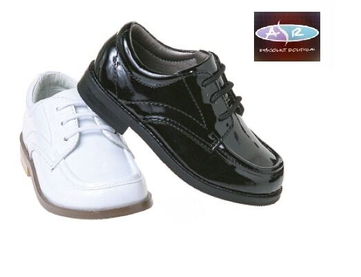 toddler boys patent black white tuxedo shoes sizes 5 6 7
