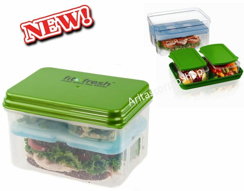 portable microwave bento lunch box food salad containers fresh storage ice pack ebay. Black Bedroom Furniture Sets. Home Design Ideas