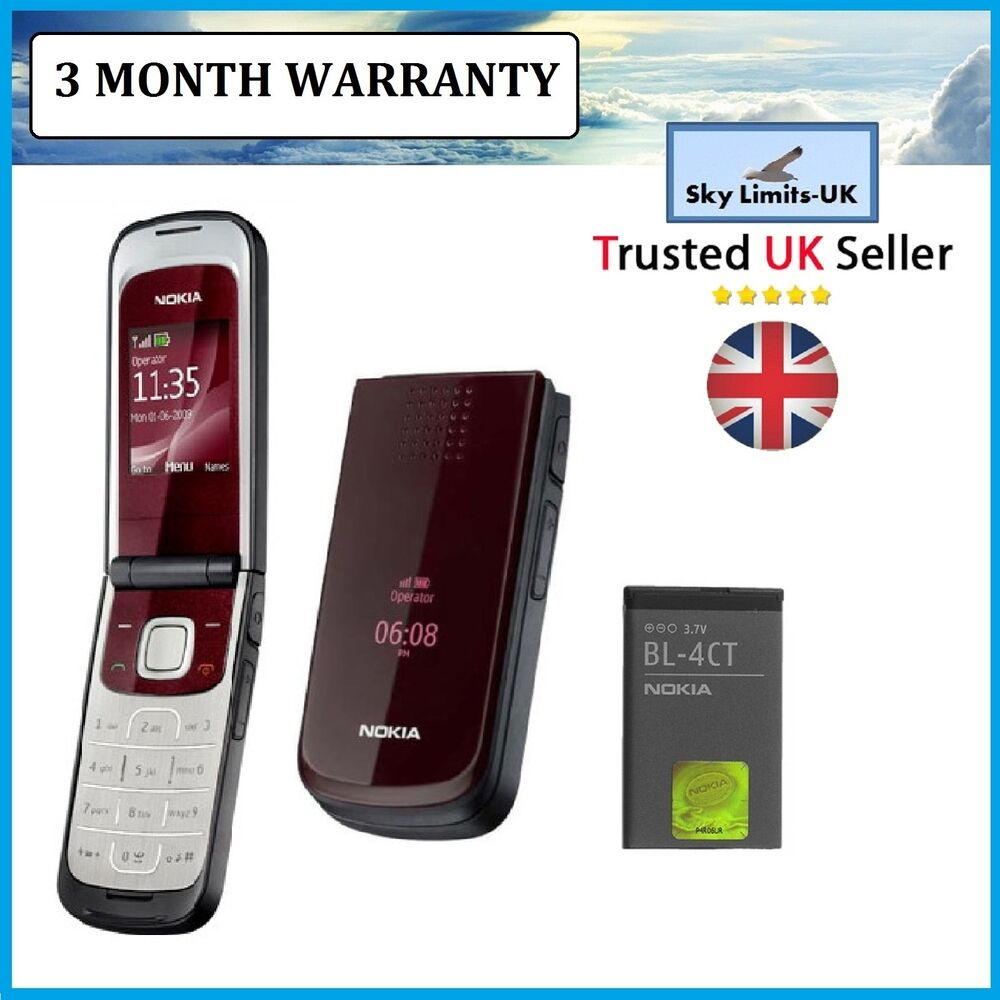 New Condition classic Nokia 2720 Red Flip Fold Mobile ...