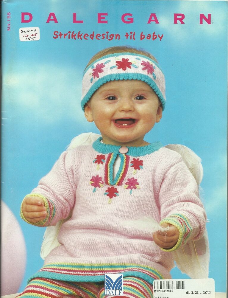 Dale Of Norway Knitting Pattern Books : Dale of Norway NR 155 Dalegarn Baby Knitting Norwegian Pattern Book 0-36 mont...