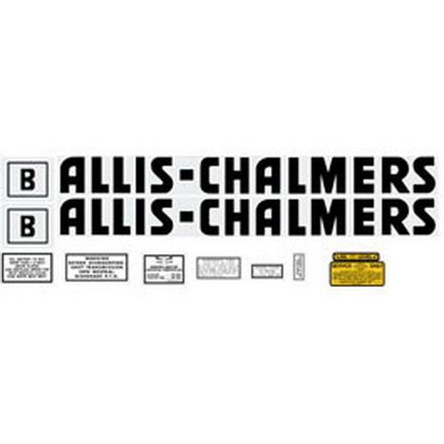 Allis Chalmers Decal Kits : B allis chalmers tractor complete black decal set high
