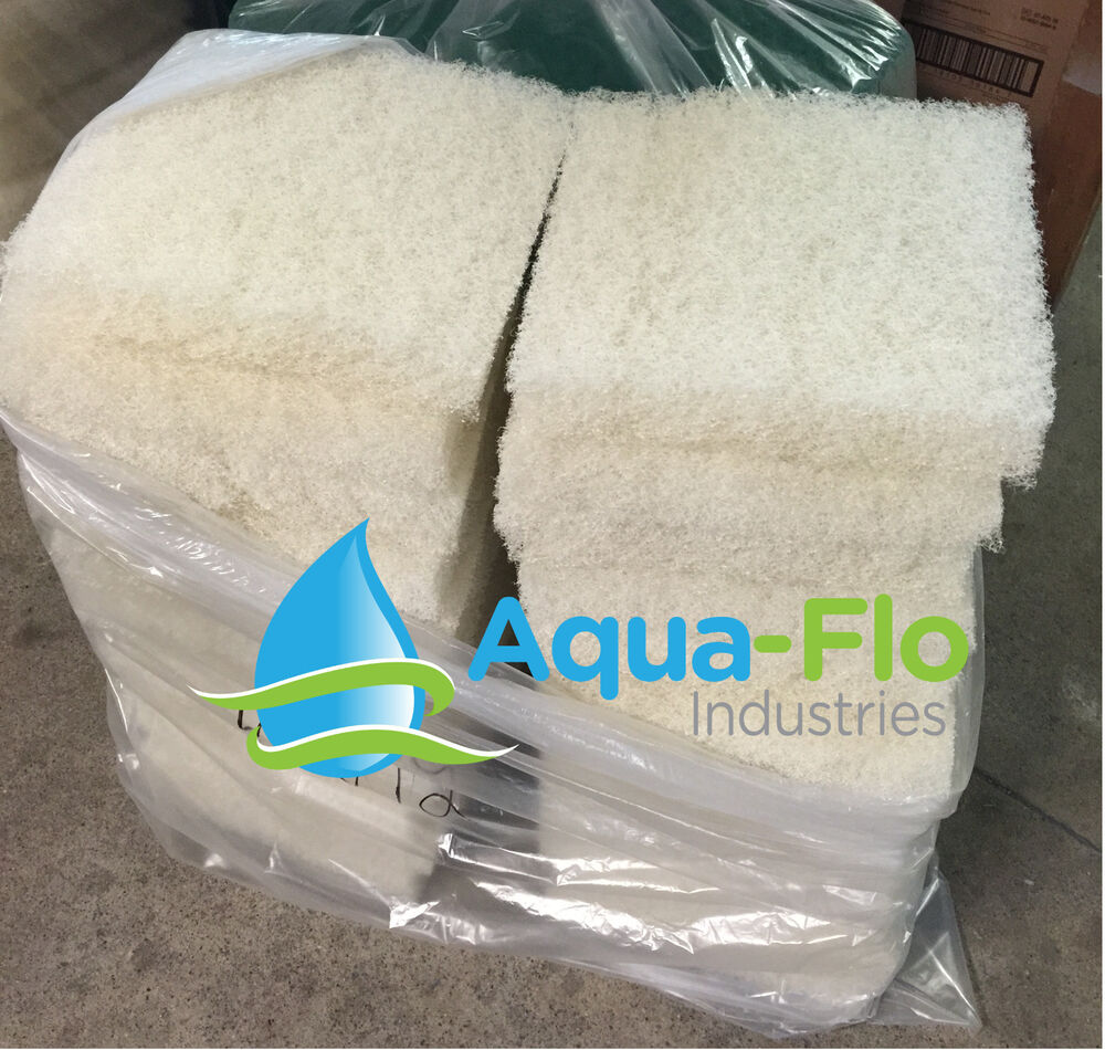 Aqua flo eight pack beige pond filter mat media pad 12 x12 for Pond filter mat