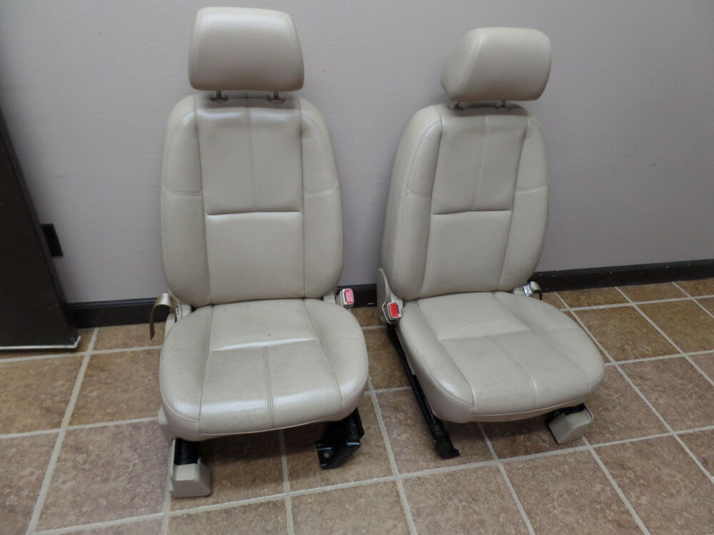 07 tahoe suburban yukon gmc tan leather front seats oem chevrolet driver ebay. Black Bedroom Furniture Sets. Home Design Ideas