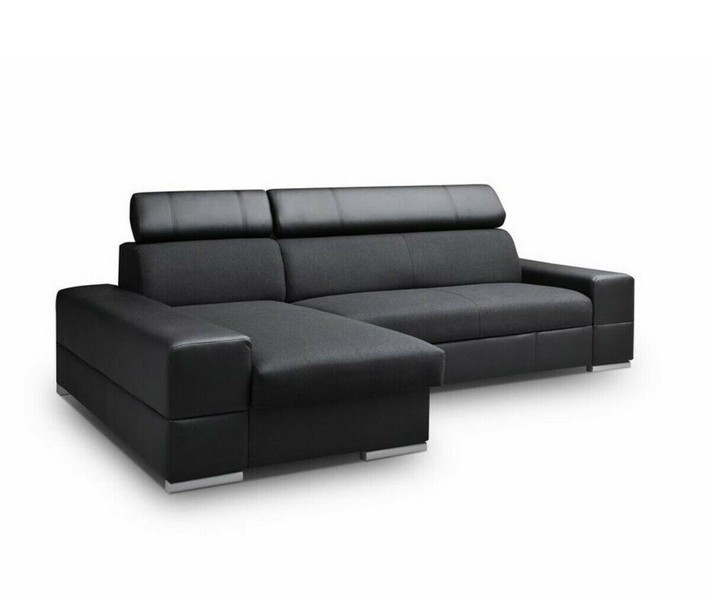 eckcouch ecksofa corti bettkasten und schlaffunktion couch sofa couchgarnitur ebay. Black Bedroom Furniture Sets. Home Design Ideas