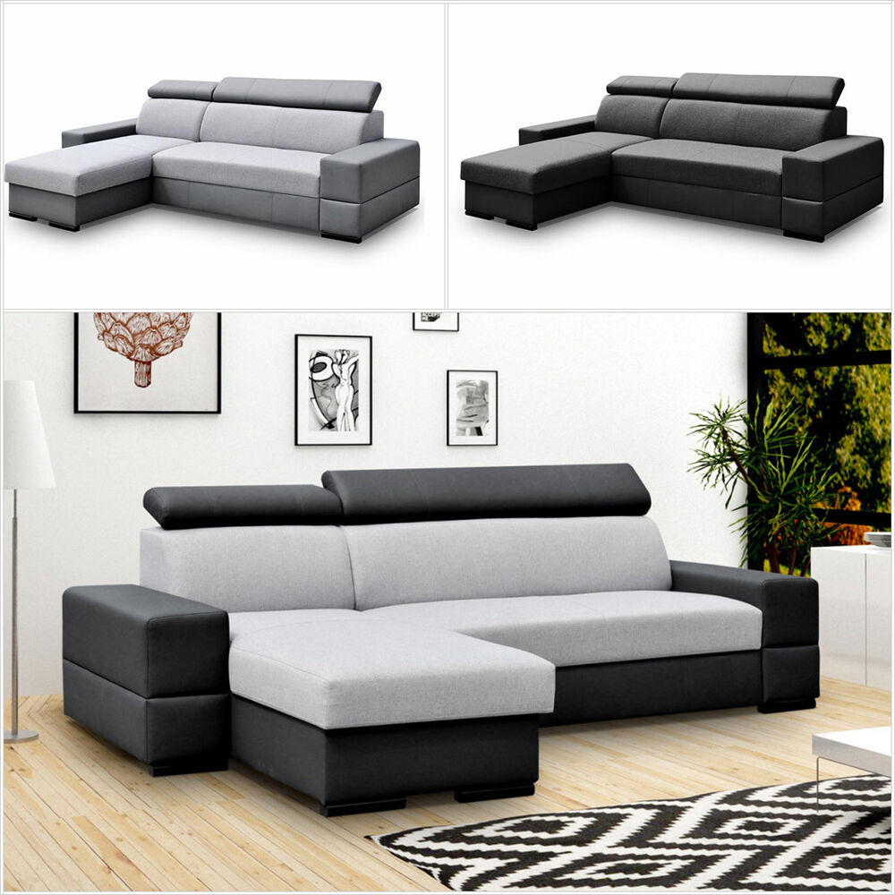 Eckcouch ecksofa corti flexi bettkasten und for Eckcouch schlaffunktion bettkasten