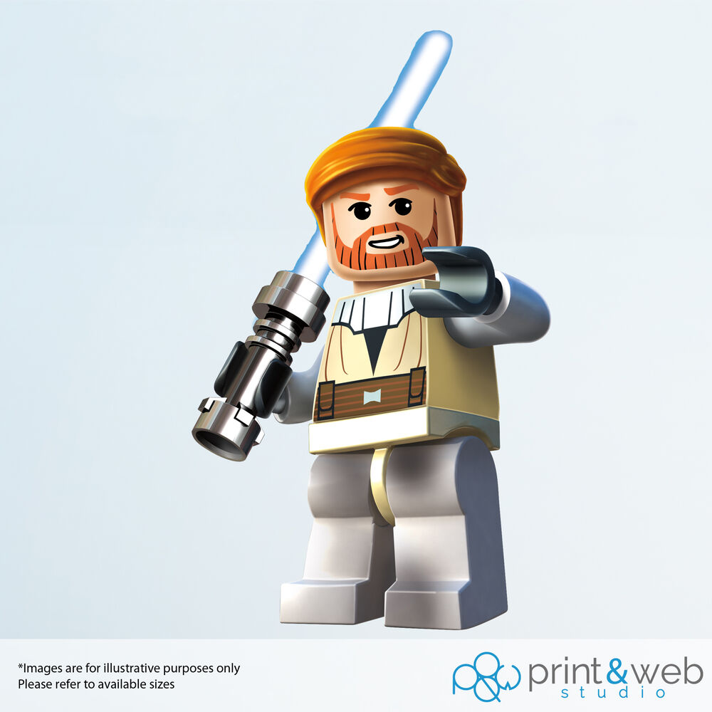 Lego star wars wall decal sticker bedroom vinyl kids obi wan ebay
