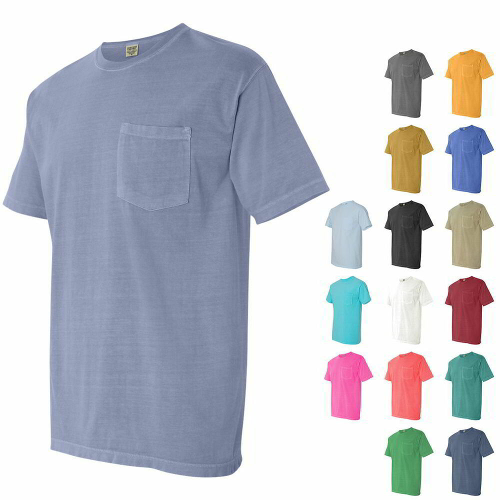 Comfort colors pigment dyed short sleeve mens t shirt with for One color t shirt