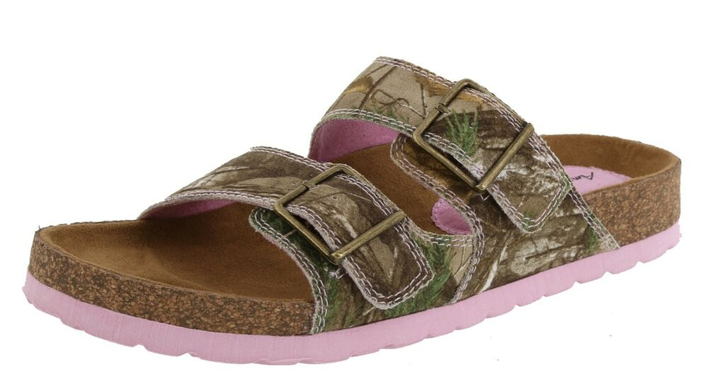 womens pink realtree camouflage shoes slides sandals