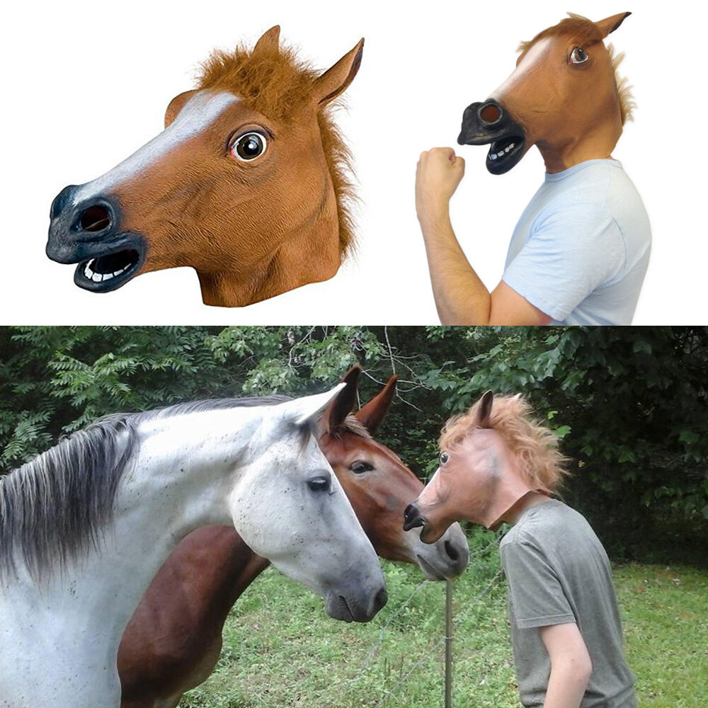 Halloween Horse Head Mask Animal Cosplay Costume Party ...