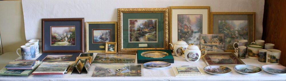 Thomas kinkade collection lot of 38 accent prints plates - Home interiors thomas kinkade prints ...