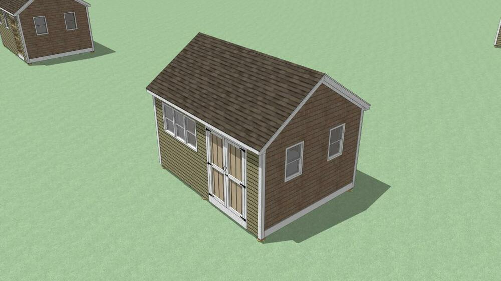 12 x 16 Storage Shed Plans Gable Roof Step By Step How To ...