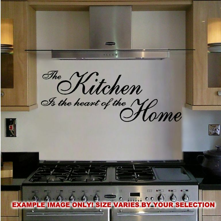 Kitchen Wall Border Decals: THE KITCHEN IS THE HEART OF THE HOME WALL DECAL STICKER