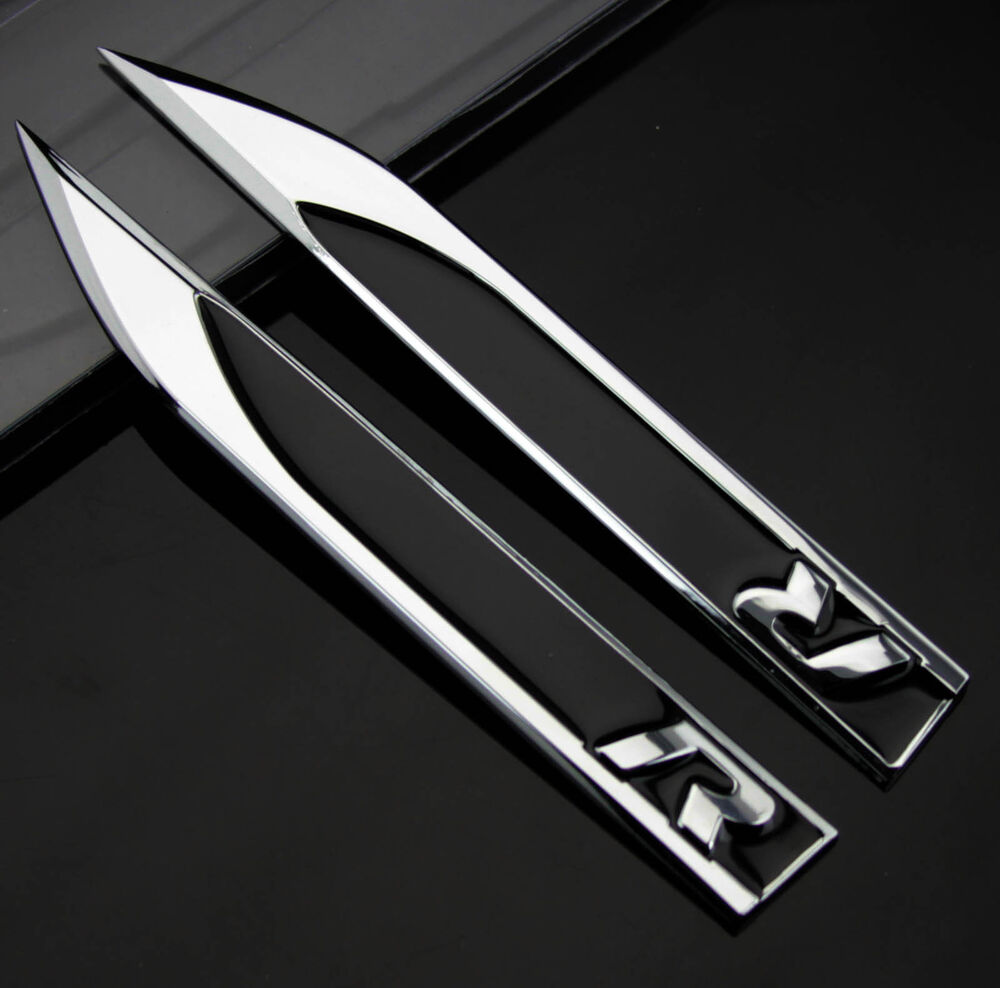 2pcs auto car dagger fender emblems sticker badge fit for. Black Bedroom Furniture Sets. Home Design Ideas