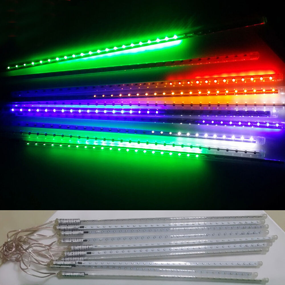 Led Icicle String Lights With Ice Drop : Colorful Meteor Shower Falling Rain Drop Icicle Snow Fall LED Xmas String Light eBay