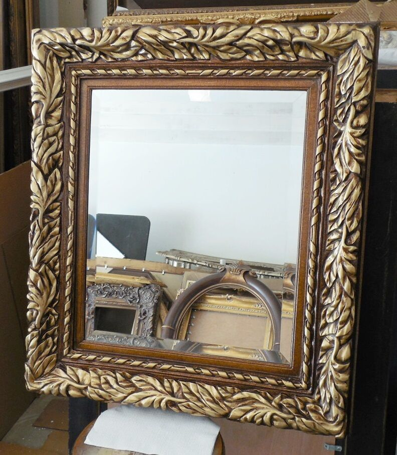 Large Wood Resin Quot 31x35 Quot Rectangle Beveled Framed Wall