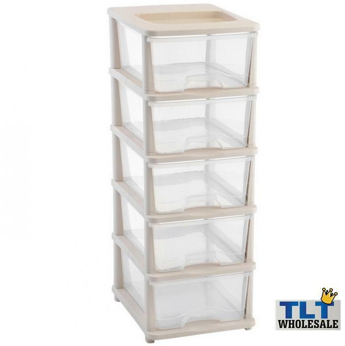 tier plastic storage drawers bedroom bathroom office organizer