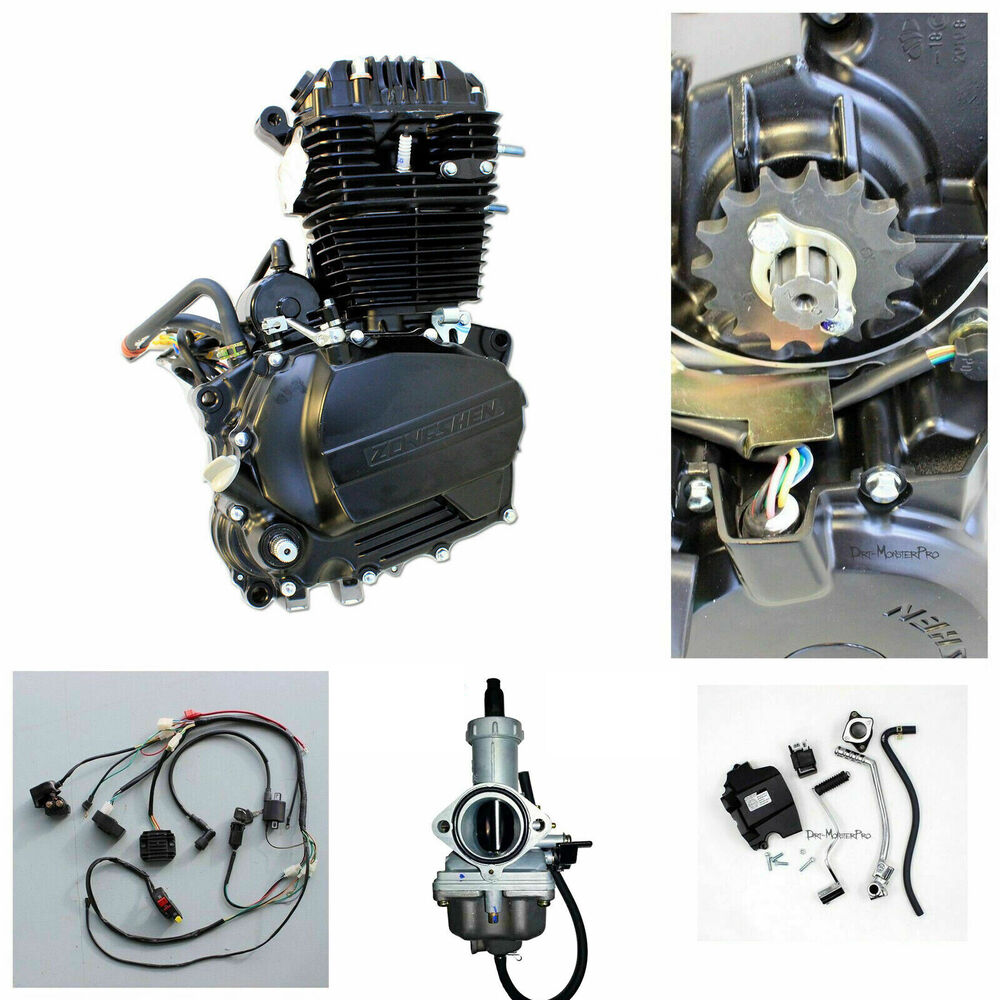 250cc Engine: Zongshen 250cc OHC Engine Motor Manual Clutch Kit Wiring