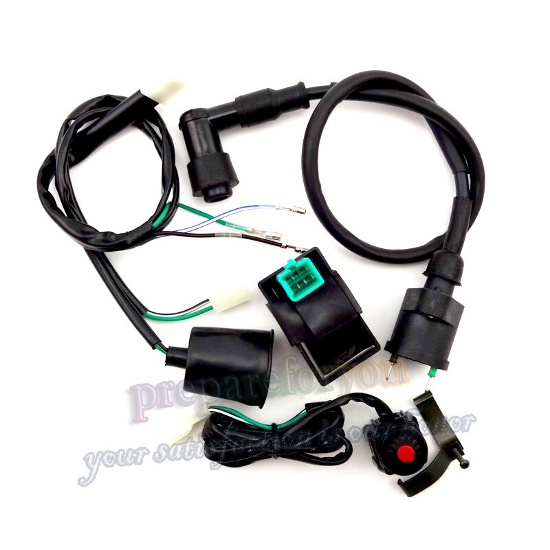 Ac Cdi Wiring Harness Kill Switch Ignition Coil For Ssr Thumpstar Pit Dirt Bike