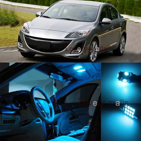 premium ice blue light bulb car interior led package kit for mazda 3 2010 2013 ebay. Black Bedroom Furniture Sets. Home Design Ideas