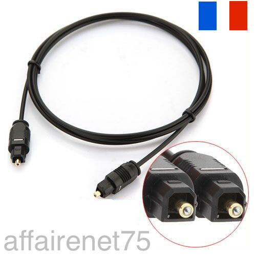 cable digital fibre optique audio toslink spdif md dvd or gold plug ebay. Black Bedroom Furniture Sets. Home Design Ideas