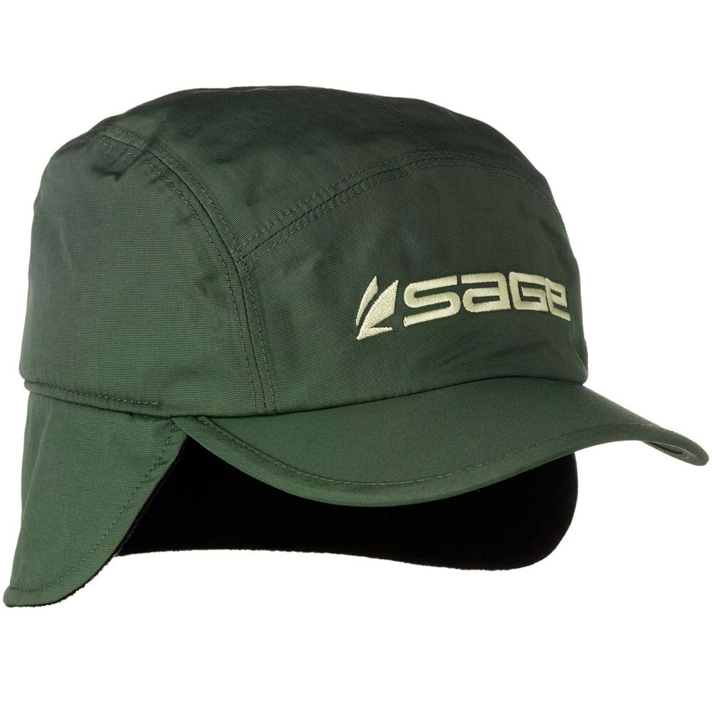 sage fly fishing lightweight waterproof storm cap ear