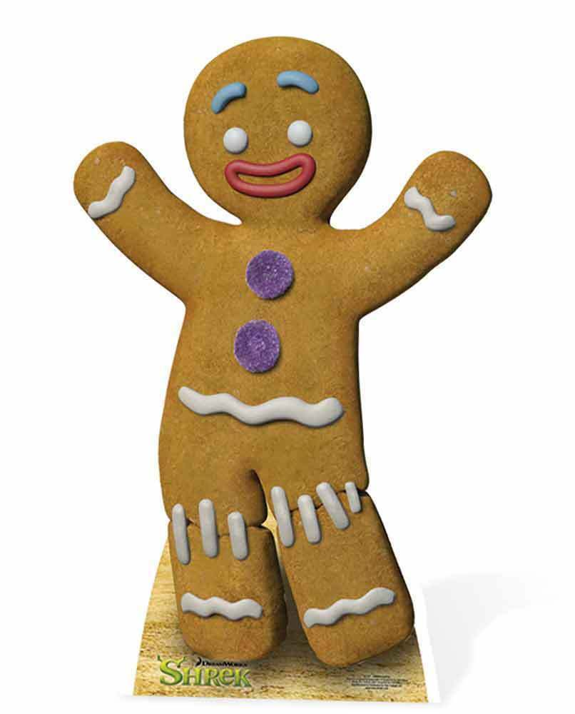 GINGY THE GINGERBREAD MAN FROM SHREK LIFESIZE CARDBOARD CUTOUT ...