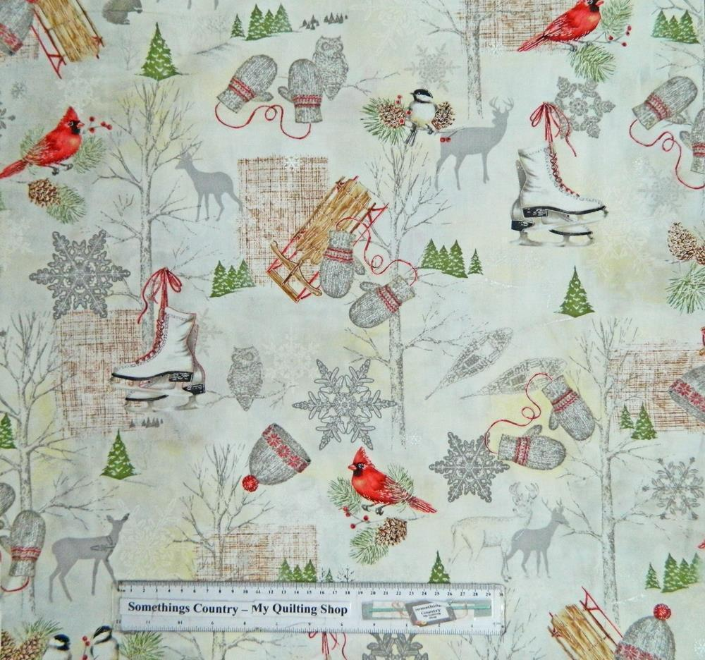 Winter celebration christmas patchwork quilting fabric for Quilting material
